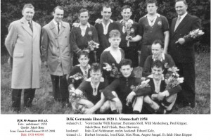 -1958 400300 DJK FV DJKG S1 Meistermannschaft