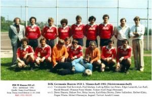 -1981 400200 DJK FV DJKG S1 Meistermannschaft